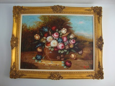 """Large 36""""x48"""" - Large Framed Hand Oil Painting"""