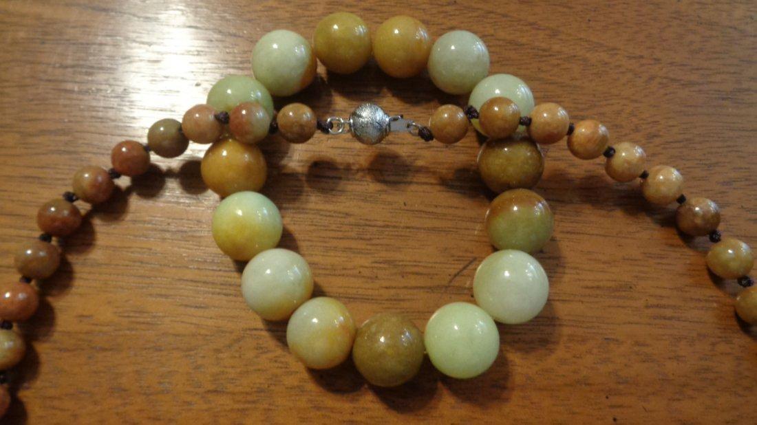 Set of Jade Necklace & Bracelet