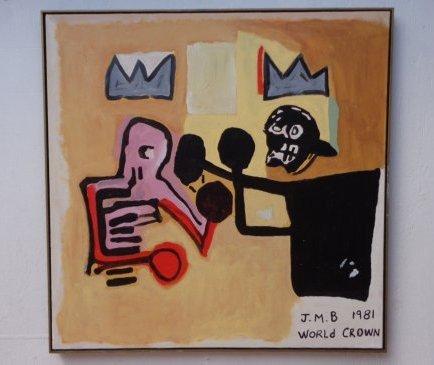 "Contemporary Art -Basquiat ""World Crown""Paintin"