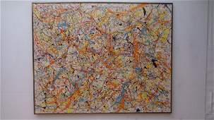 Abstract Modern Original Jackson Pollock Style