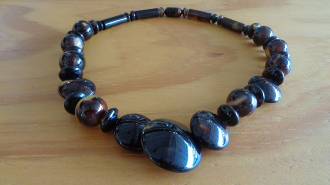 """100% All Natural Caribbean Tortoise Shell Necklace 20"""""""