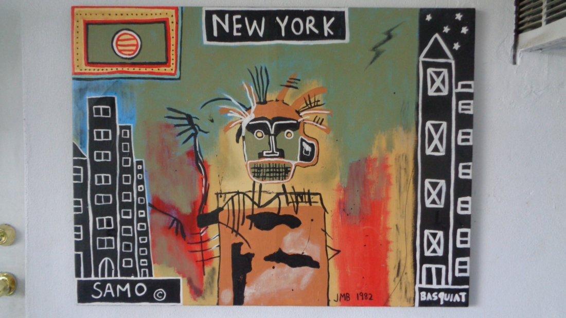 "Large Contemporary Art - Basquiat ""Samo- JMB 1982"""