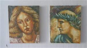 Hand Painting Man & Woman Set-Signed
