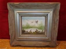 Martin signed Vintage Original Oil painting Framed
