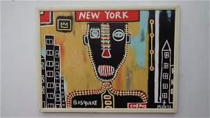 """Large Contemporary Art - Basquiat """"Corpus Morte"""""""