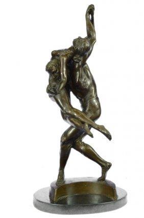 Bronze Statue Couple Dancer