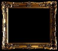 Wood Picture Frame Ornate Antique Gold 24 x 36 17