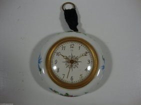 Porcelain Hand Painted French Clock