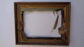 Antique Picture Lemon Wood Frame