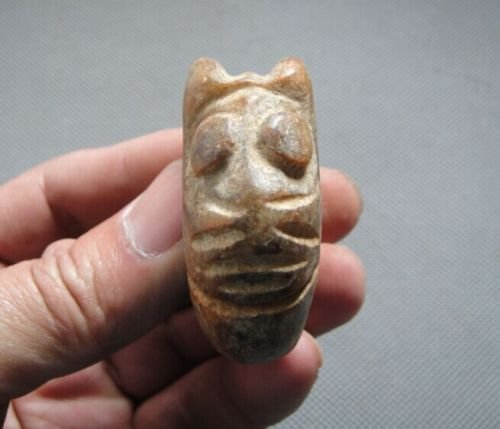 Chinese Ancient Neolithic Hongshan Artifacts Hand Carve - 3