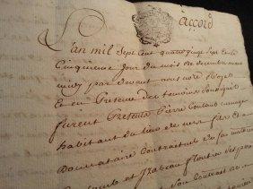 1787 Antique 8 Pages Document-manuscript