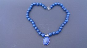 Natural Egyptian Lapis Lazuli Gemstone Pendant Necklace