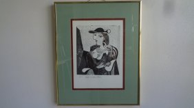 Picasso Engraving 3/250. Portrait Of Marie Therese