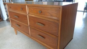 Mid Century 6 Drawer Dresser By Henredon Herritage Circ