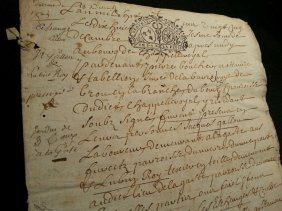 Antique 1725 Marriage Contract - 8 Pages