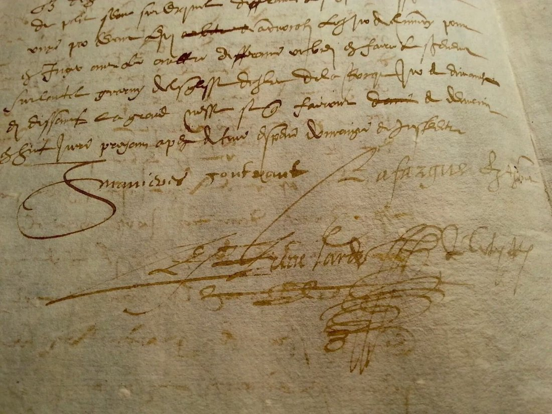 1590 Antique Document