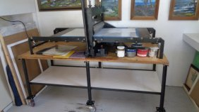 Wright Motorized Combination Printing Press