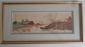 Odessa Brunner (american) Antique 1915 Landscaping