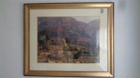 Large Framed K.pock Signed Print Under Plexiglass
