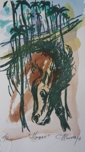 Carlos Enrique (cuban1900-1957) Illuminated Engraving