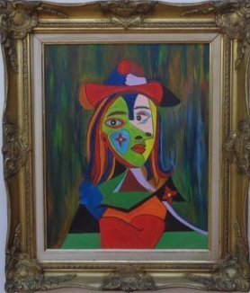 Lady Original Oil Painting Signed By The Artist W Ny