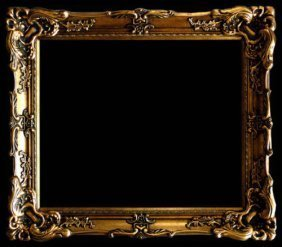 "Wood Picture Frame Ornate Antique Gold 24"" X 36 #17"