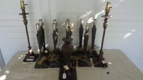 Lot Of 12 Table Lamp - Salvage