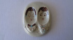 Hand Painted Hermans 1951 Porcelain Hanging Wall