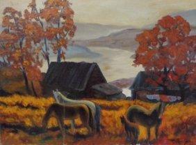 Albert Toporichther 1993 Moscow Original Painting
