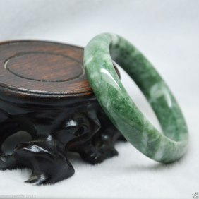 Natural Chinese Jade Hand-carved Bracelet Bangle