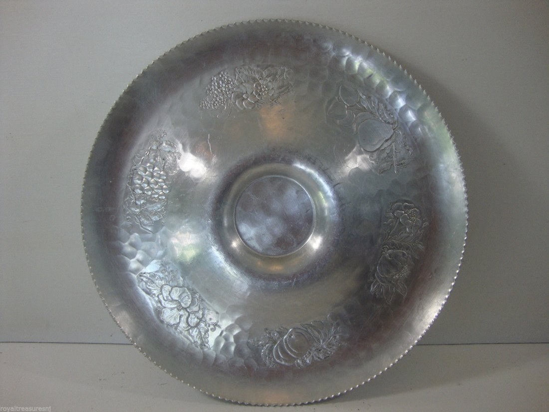 Vintage Signed Cromwell hand wrought aluminum platter