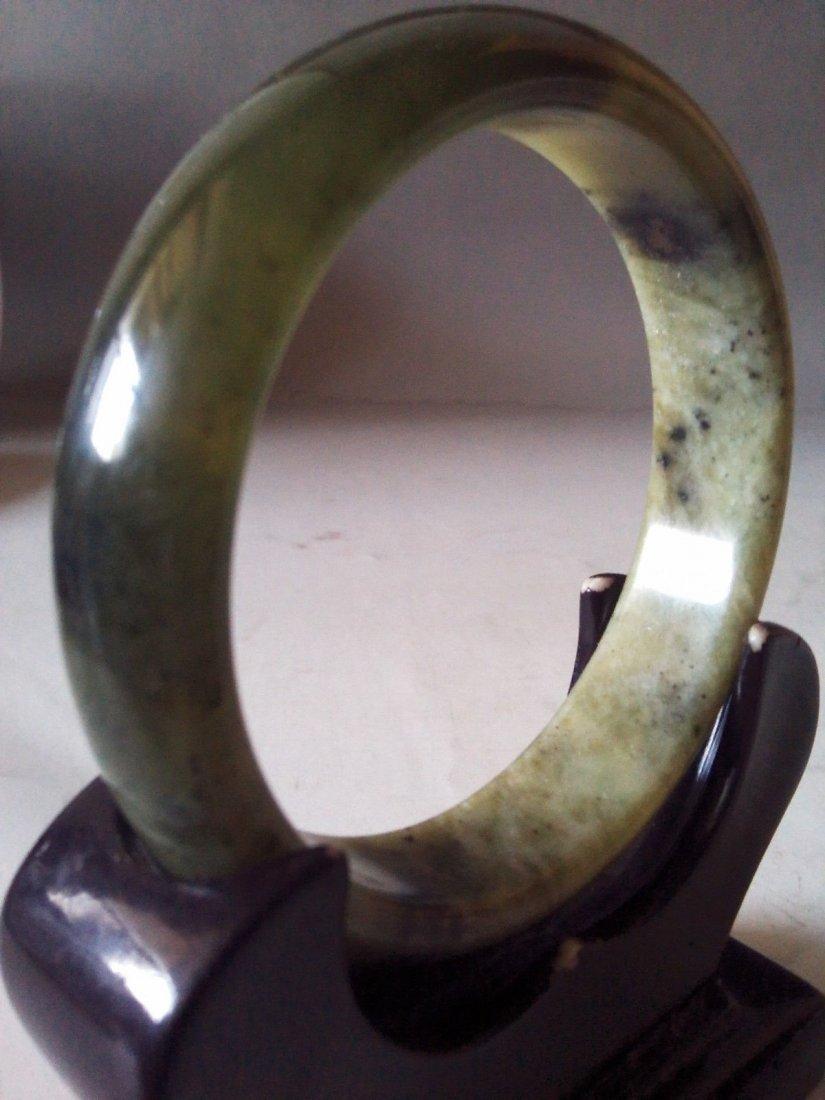 Chinese 100% Natural Untreated Black jades bracelet