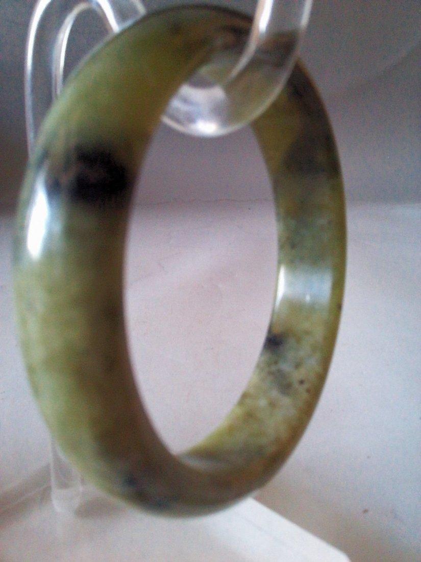 Chinese 100% Natural Untreated Black jades bracelet - 2