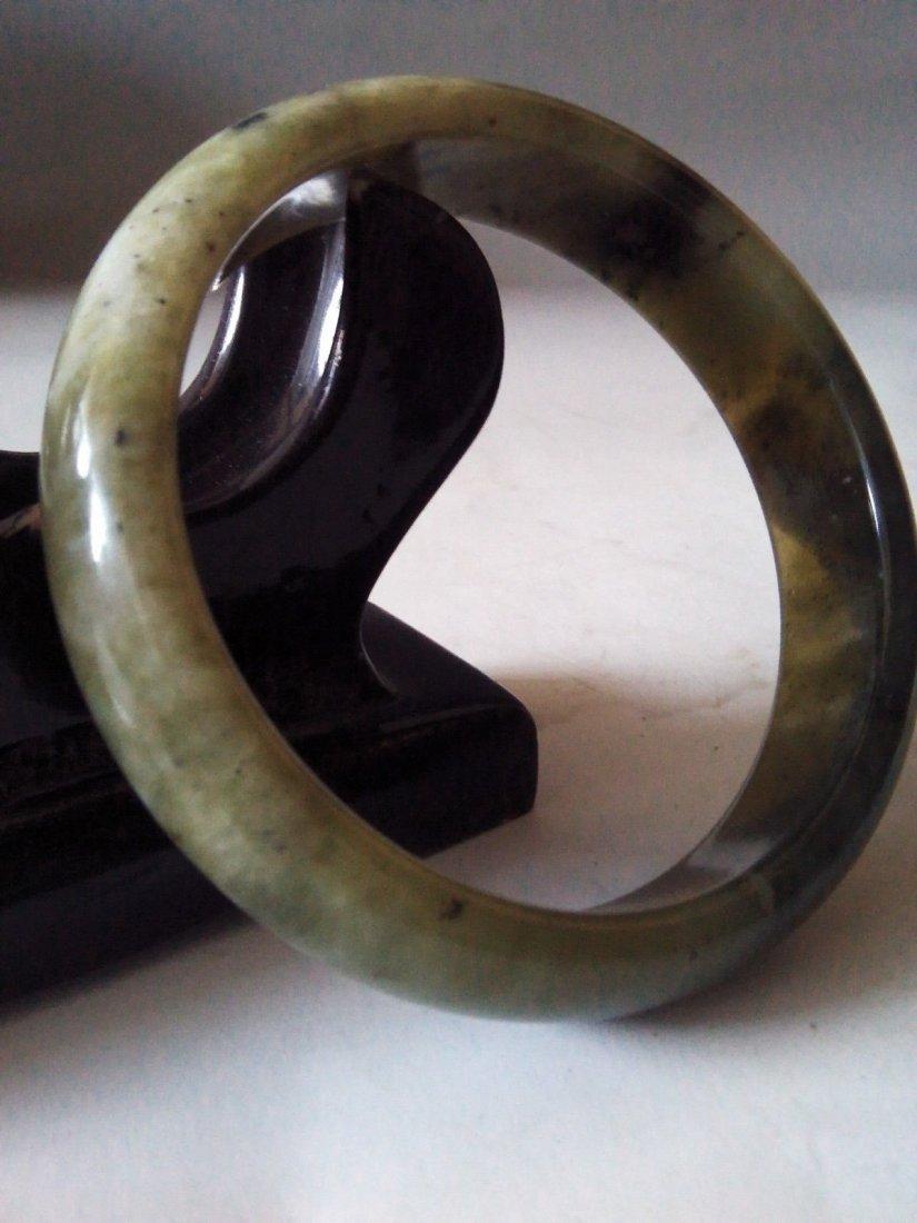 Chinese 100% Natural Untreated Black jades bracelet - 3