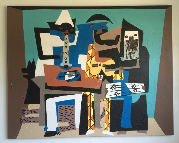 Large Picasso Contemporary Style Painting