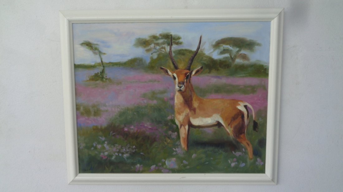 African Impala Original Oil Painting