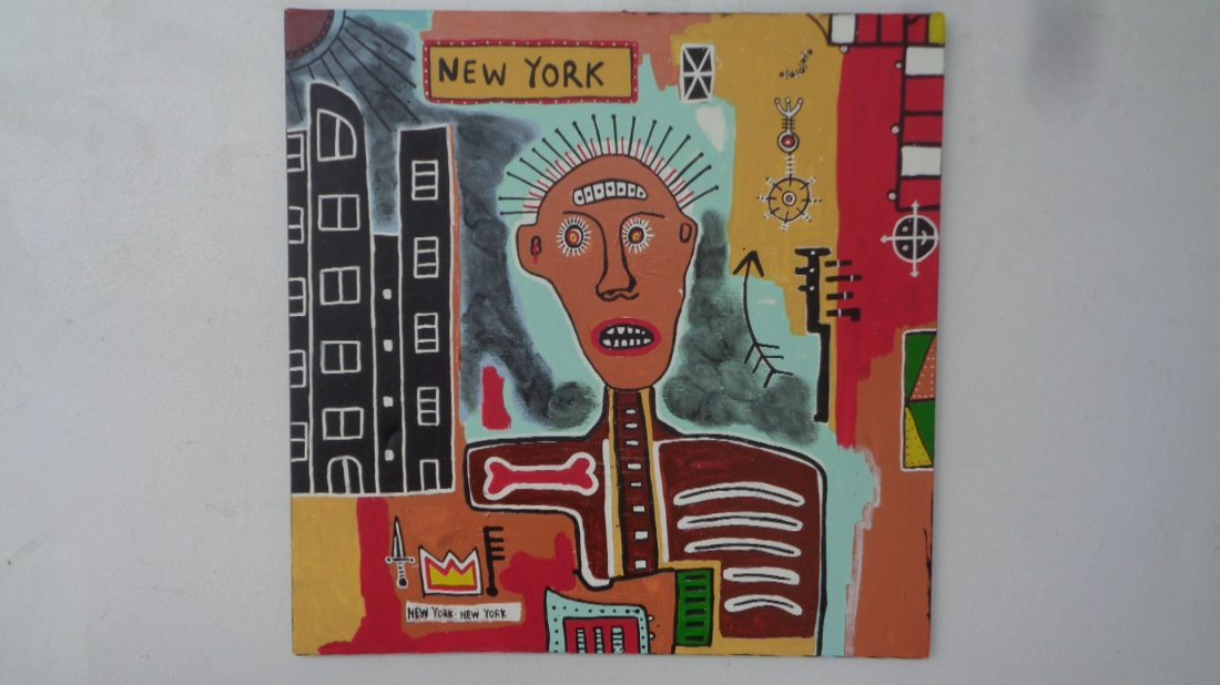 Large Contemporary Art-Basquiat-New York Painting