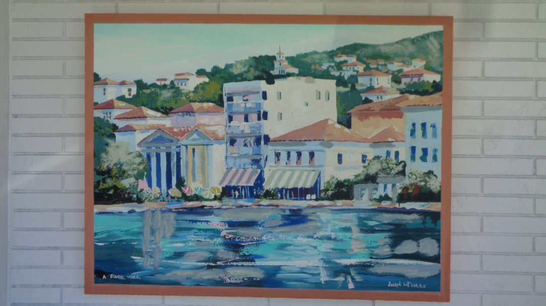 "Joseph La Pierre ""A River Walk"" Signed Painting"