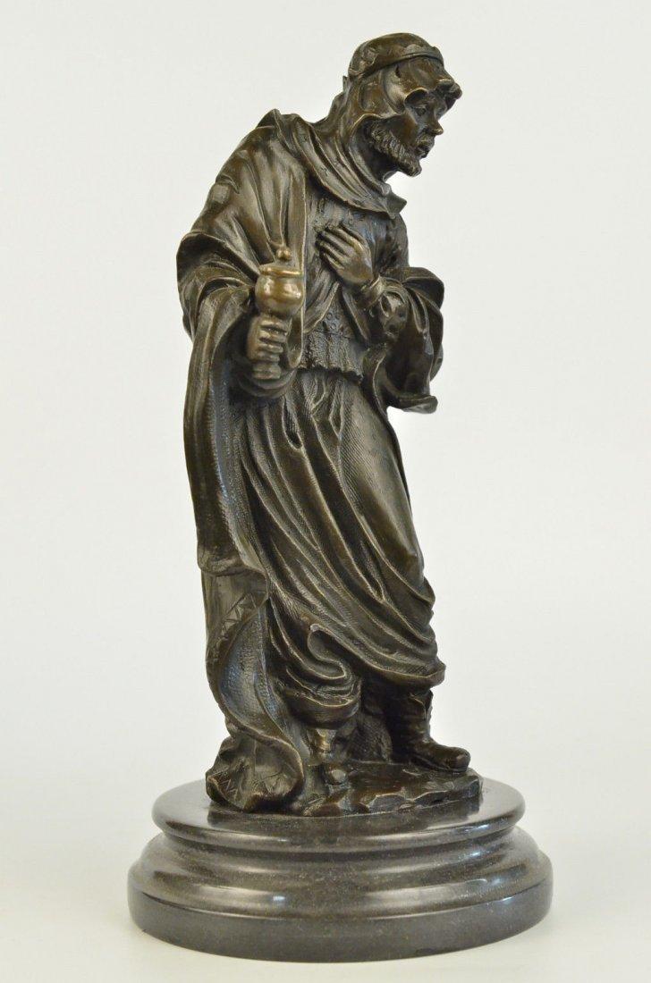 Signed Valli Vienna Bronze Arab Man Bronze Statue