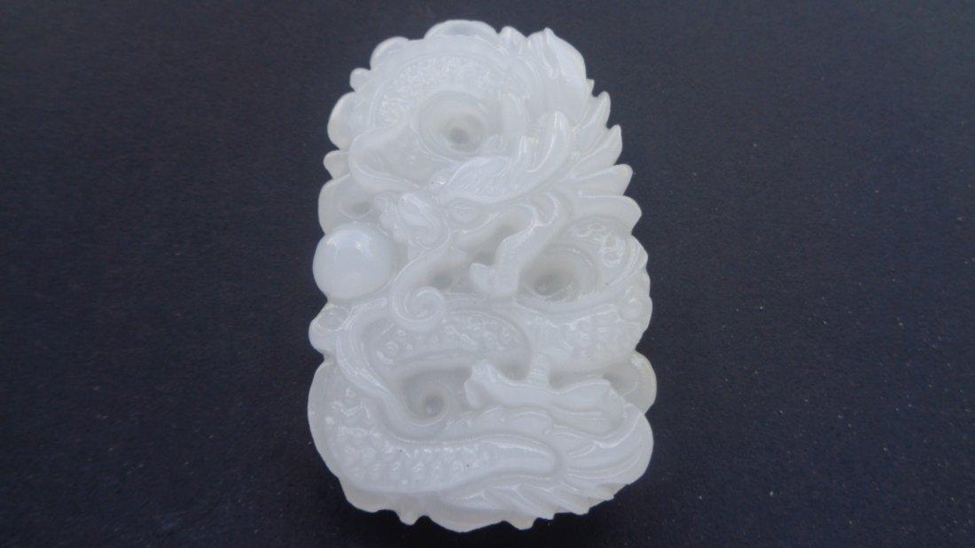 Jade carving White Jade pendant - 2