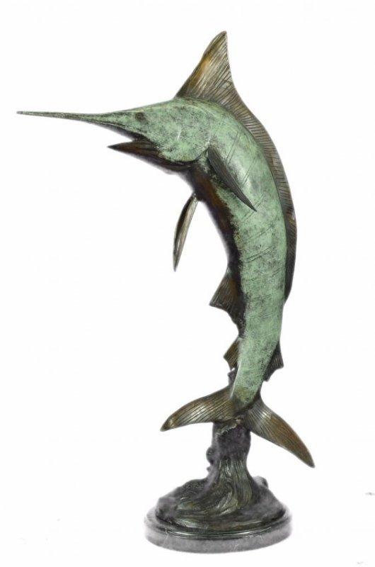 Large Bronze Sail Fish Marlin Statue