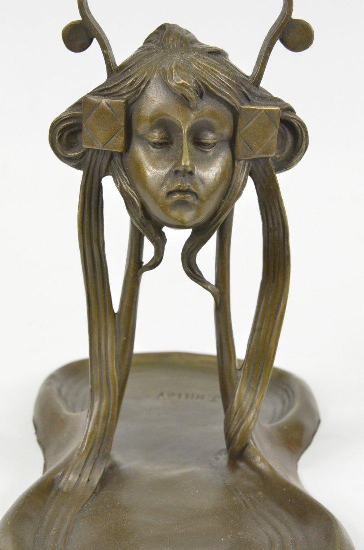 Art Nouveau Deco Jewelry Tray Lady