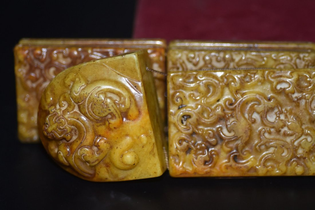 18th Century Antique Chinese Jade Belt & Buckle