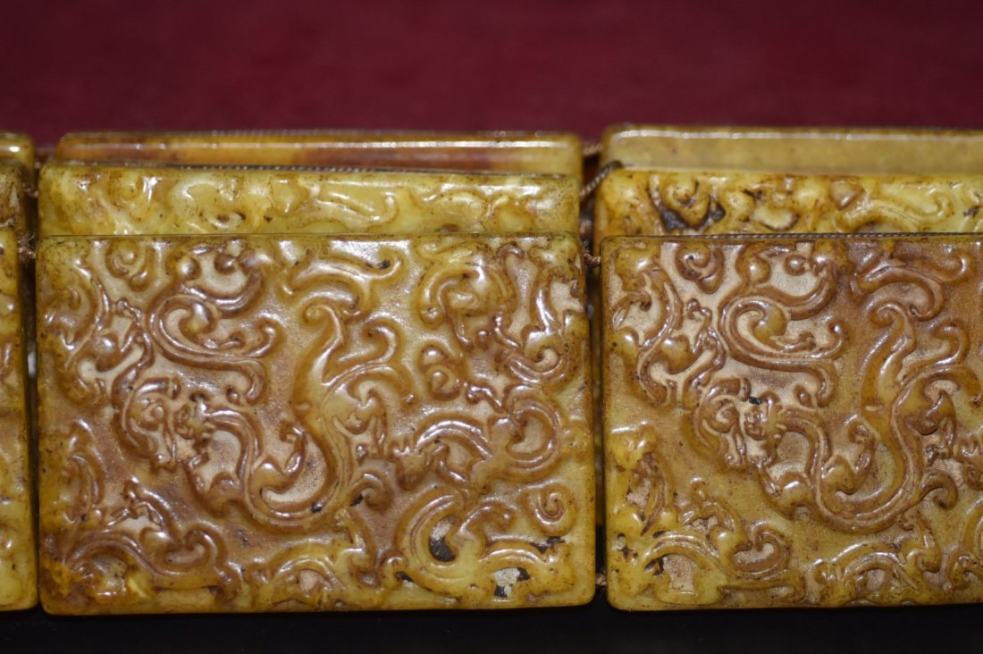 18th Century Antique Chinese Jade Belt & Buckle - 2