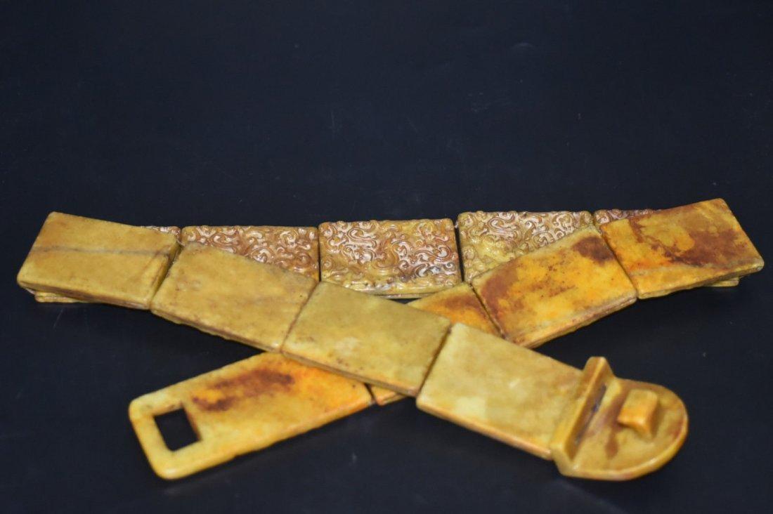 18th Century Antique Chinese Jade Belt & Buckle - 3