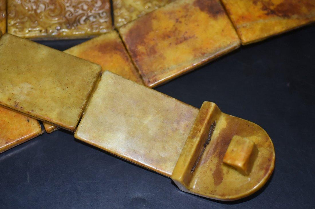 18th Century Antique Chinese Jade Belt & Buckle - 4