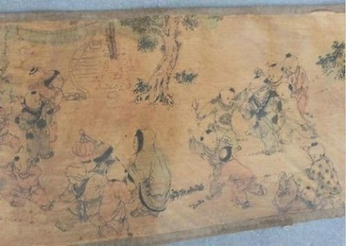 Extra large Hand Paint Chinese Scroll - 2