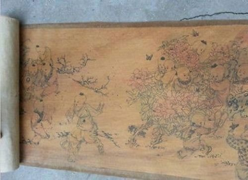 Extra large Hand Paint Chinese Scroll - 3