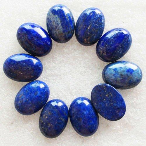 Lot of 10 Pcs Natural Lapis Lazuli Oval Cabochon