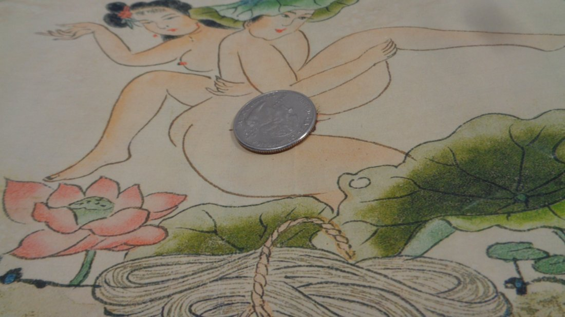 Hand Painted Chinese Scroll Book Album - 2